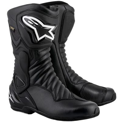 Alpinestars SMX 6 V2 Gore-tex Black Waterproof Motorcycle Boots
