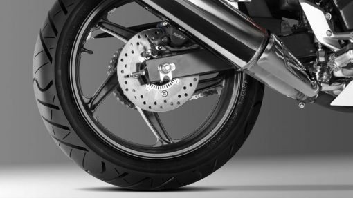 CBR300R motorcycle back wheel
