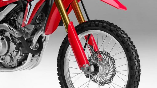 CRF250L motorcycle front wheel red