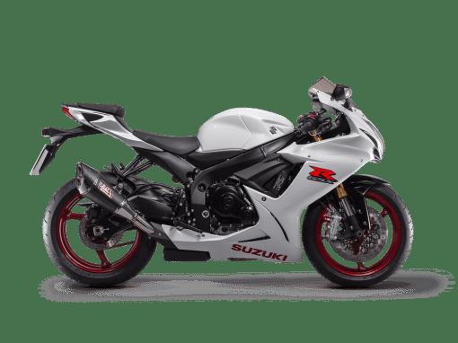 GSX-R750 sport motorbike pearl glacier white colour