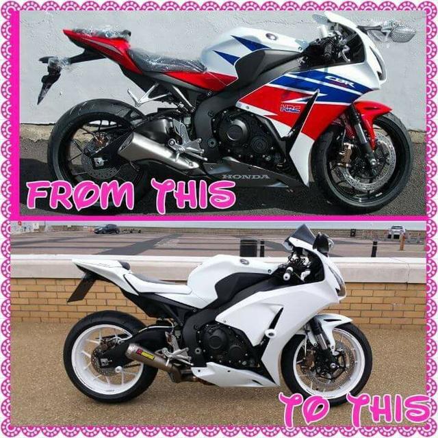 Hazell Murray & Honda Fireblade motorcycle