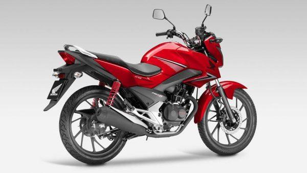 Honda CB 125F motorbike red