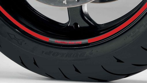 Honda CBR125R road bike wheel bottom side