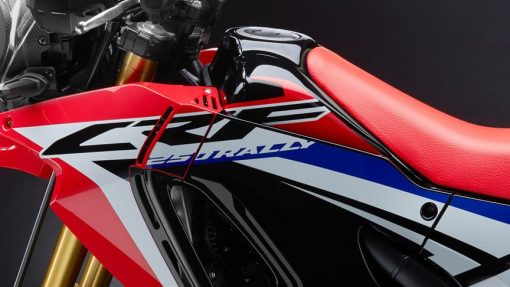 Honda CRF250 Rally motorcycle close view