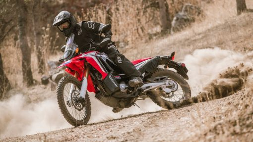 Honda CRF250 Rally road bike on race Chelsea