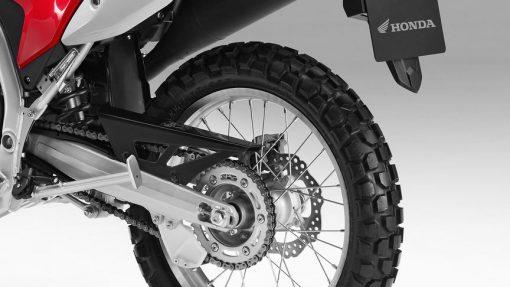 Honda CRF250L motorcycle back wheel