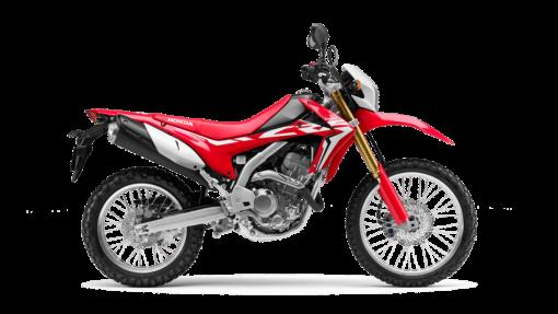 Honda CRF250l road bike red