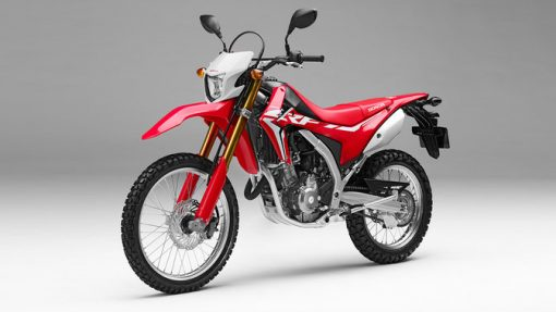 Honda CRF250L road motorbike side front view