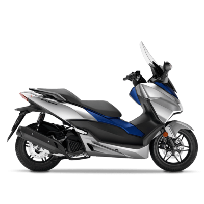 Honda Forza 125 Scooter silver blue