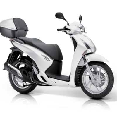 Honda SH125i ABS scooter white gray