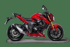 Suzuki GSX-S750 motorcycle - red