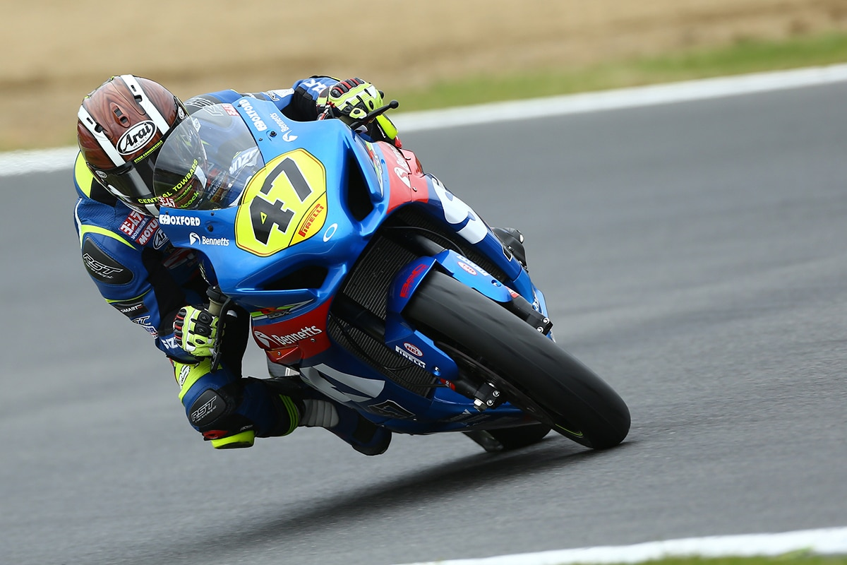 Richard Cooper on new GSX-R1000 at Superstock