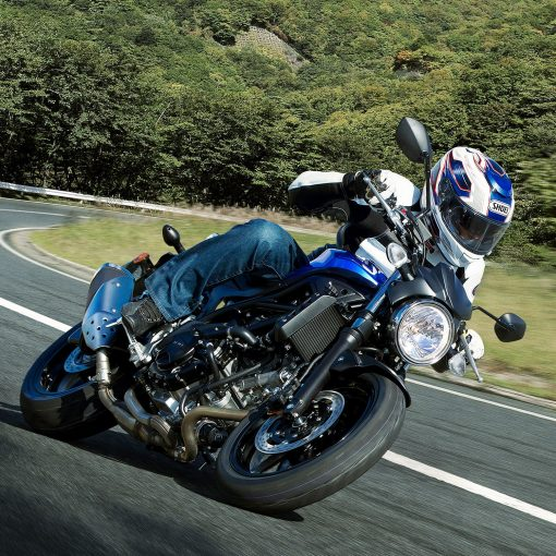 SV650 street motorcycle during race Chelsea