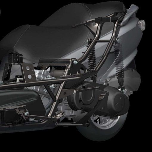 Suzuki Burgman 125 scooter back - close view