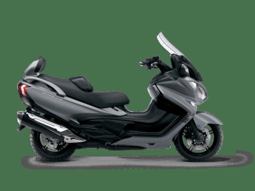 Suzuki Burgman 650 scooter metallic matt fibroin grey
