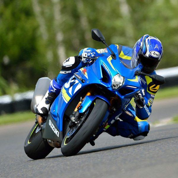 Suzuki GSX R1000R sport motorbike blue
