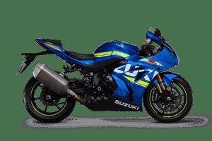 Suzuki GSX R1000R sport motorcycle blue