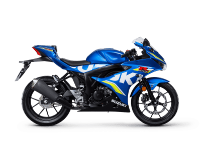 Suzuki GSX R125 MotoGP sport bike blue colour