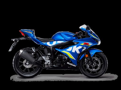 Suzuki GSX R125 MotoGP sport bike blue colour