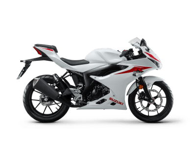 Suzuki GSX R125 motorcycle brilliant white