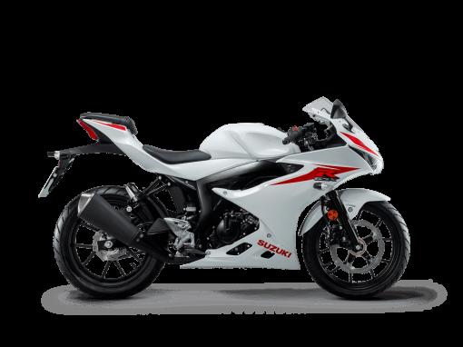 Suzuki GSX R125 motorcycle brilliant white