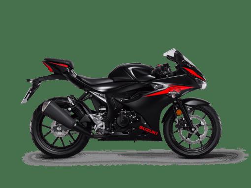 Suzuki GSX R125 sport bike solid black