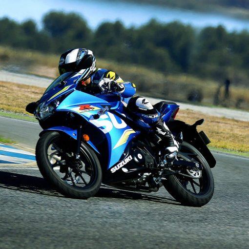 Suzuki GSX R125 sport motorbike on race in Chelsea