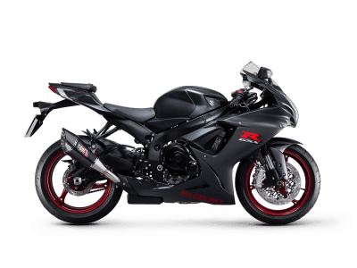 Suzuki GSX R600 sport bike metallic matt black