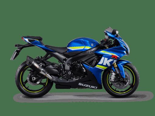 Suzuki GSX-R750 motorbike blue