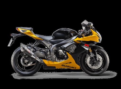 Suzuki GSX R750 sport bike yellow