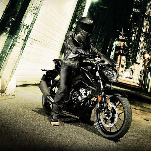 Suzuki GSX S125 MotoGP motorcycle night in Chelsea
