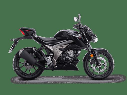 Suzuki GSX S125 street motorbike solid black