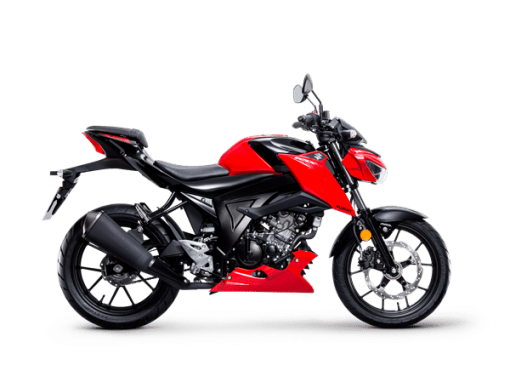 Suzuki GSX S125 street motorcycle stronger red