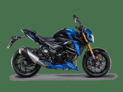 Suzuki GSX S750 street bike blue