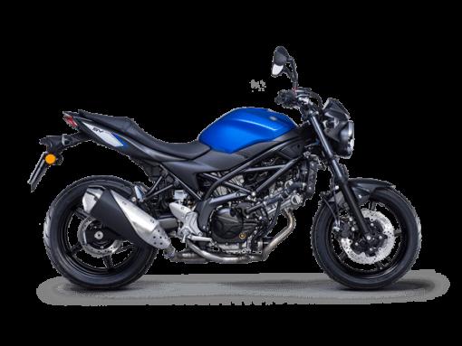 Suzuki SV650 motorcycle blue