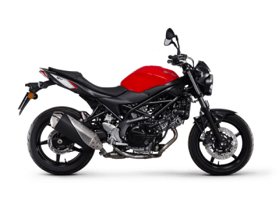 Suzuki SV650 street bike red