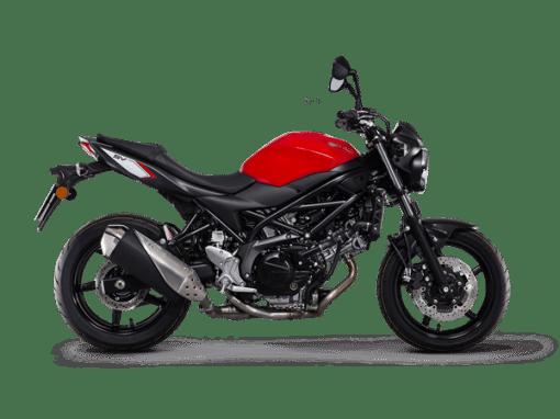 Suzuki SV650 street bike red