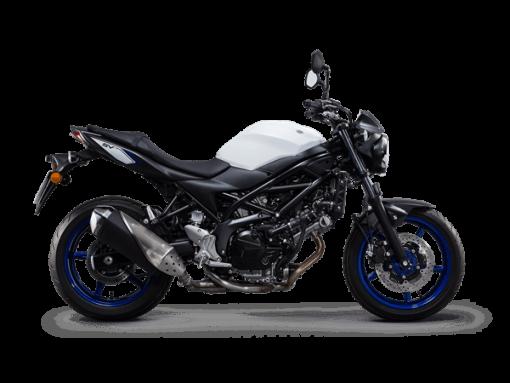 Suzuki SV650 street motorbike white