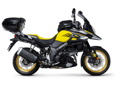 Suzuki V Strom 1000xt sport bike yellow