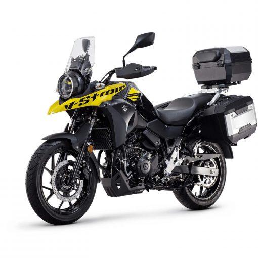 Suzuki V-Strom 250 adventure bike yellow front view