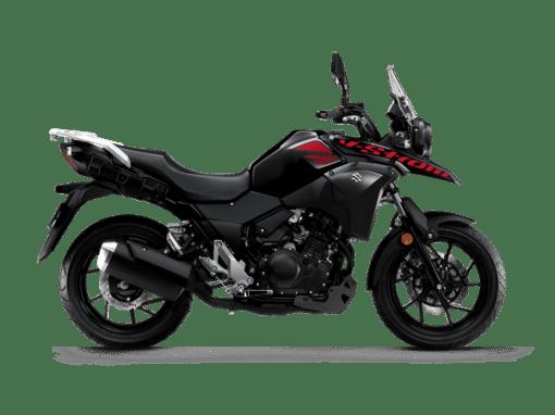 Suzuki V-Strom 250 adventure motorcycle pearl nebular black