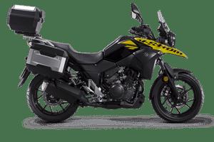 Suzuki V-Strom 250 sport motorcycle yellow