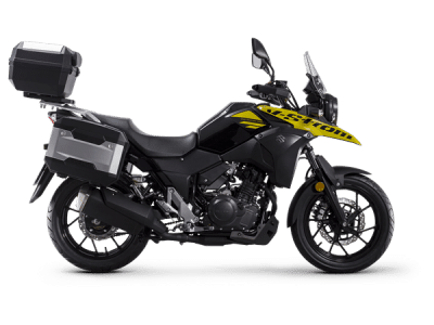 Suzuki V Strom 250 touring bike solid dazzling cool yellow