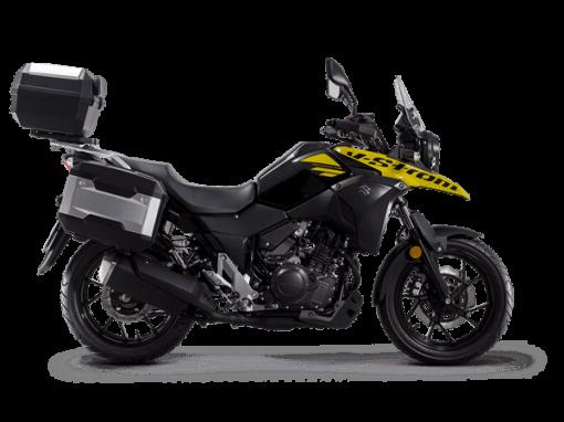 Suzuki V Strom 250 touring bike solid dazzling cool yellow