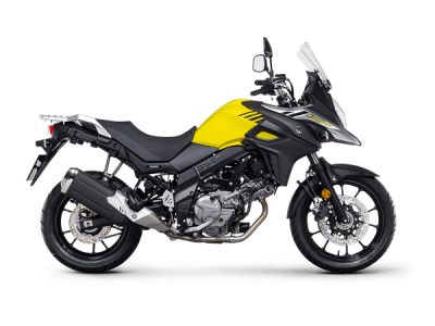 Suzuki V Strom 650 sport bike yellow