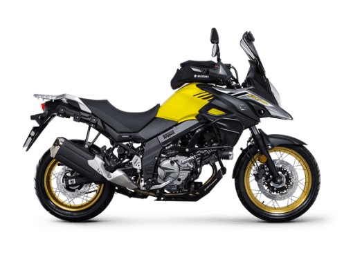 Suzuki V Strom 650xt sport bike yellow