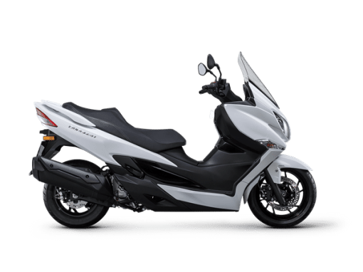 Suzuki burgman 400 scooter white