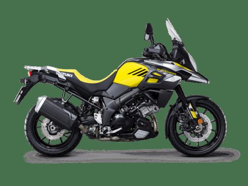 Suzuki V Strom 1000 touring bike yellow