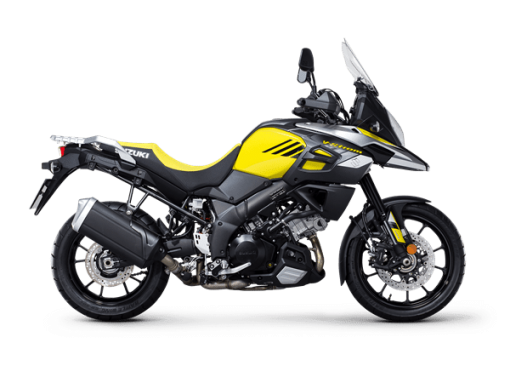 Suzuki V Strom 1000 touring bike yellow