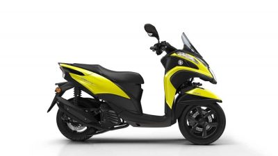 Tricity 125 scooter sunny yellow colour